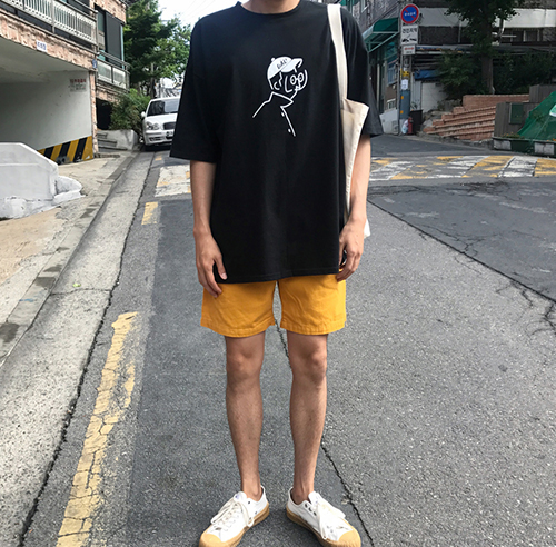 GLASSES BOY 1/2  TEE (4 COLOR)