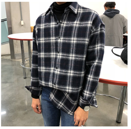 FRE OVER CHECK SHIRT (2 COLOR)