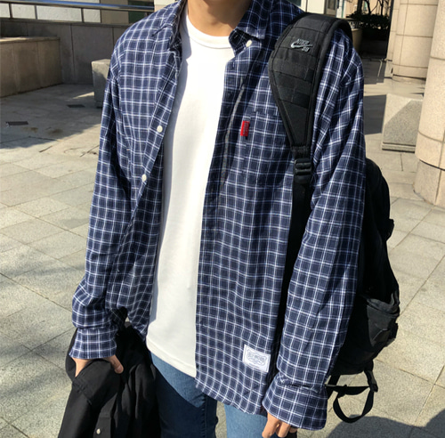 SQ CHECK OVER FIT SHIRT (2 COLOR)