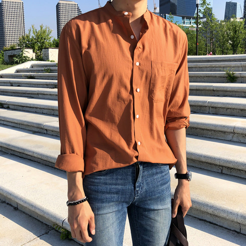 LMAN LINEN CHINA SHIRT (4 COLOR)