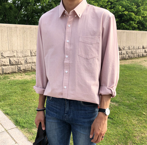 PASTEL COTTON SHIRT (5 COLOR)