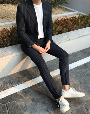 17 S/S STRIPE SINGLE SUIT (2 COLOR)