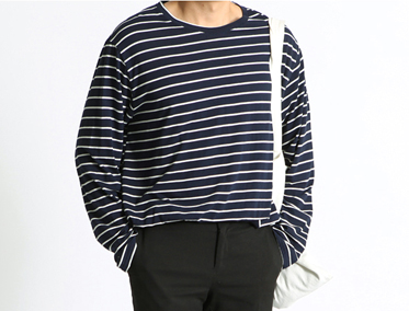 SAMU OVER STRIPE LONG T (3 COLOR)