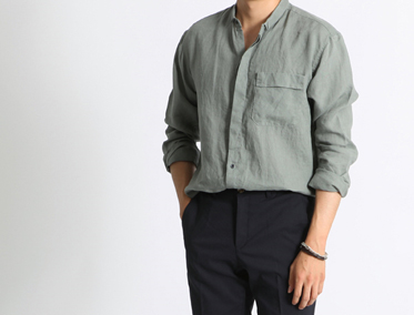 WORK SUMMER LINEN SHIRT (4 COLOR)