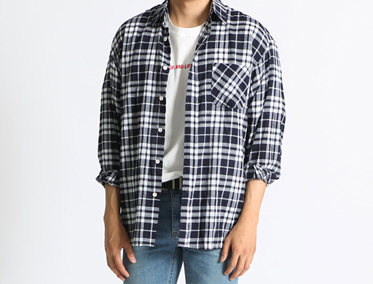 H CHECK OVER SHIRT (2 COLOR)