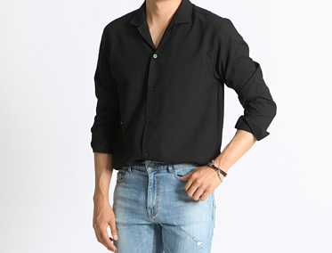SHINE OPEN SHIRT (6 COLOR)