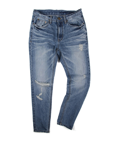 K. slim straight vitage denim