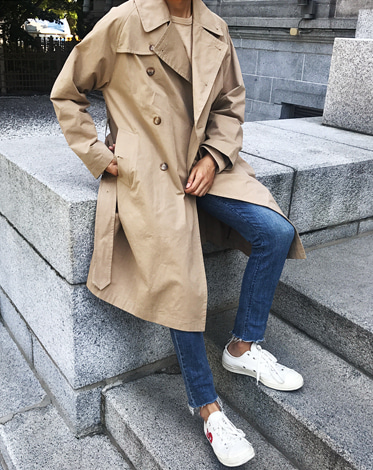 CAPT TRENCH OVER COAT (3 COLOR)