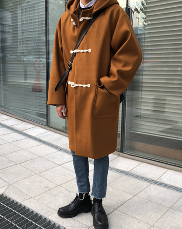 WOOL DUFFLE OVER FIT CAMEL COAT (3 COLOR)