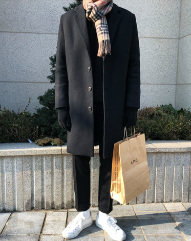 ANZ SINGLE BASIC OVER COAT (2 COLOR)  당일배송! (SALE)