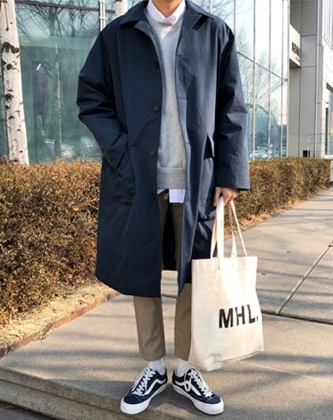 LMR SINGLE TRENCH COAT (2 COLOR)
