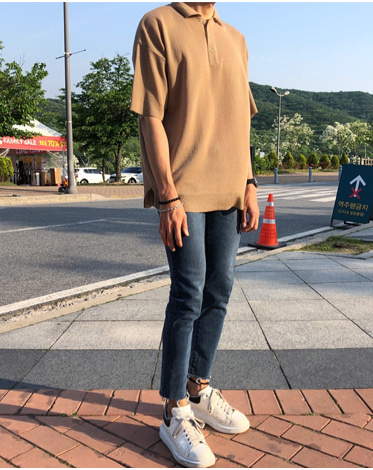 TH KARA OVER KNIT TEE (4 COLOR)